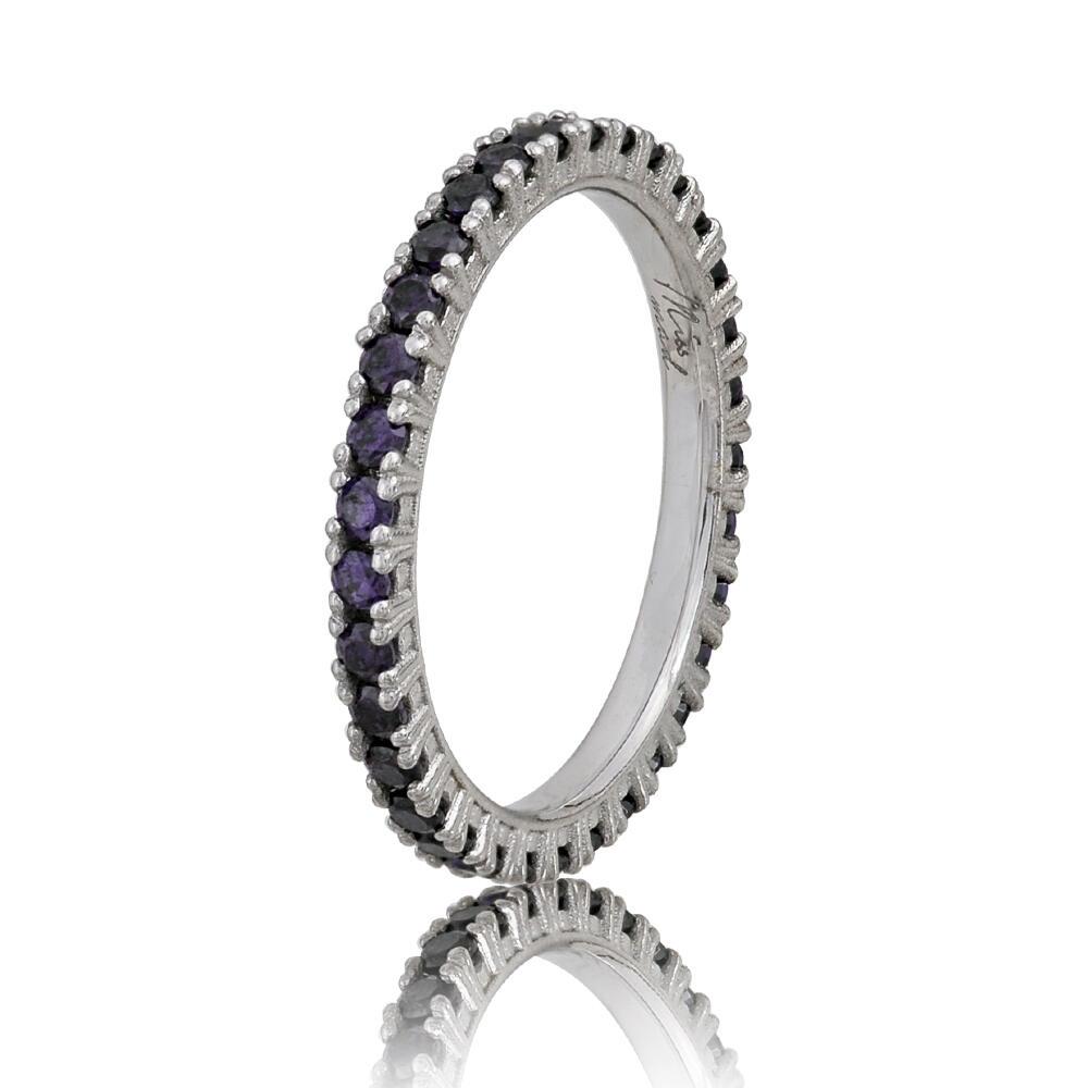 Home Δαχτυλίδια Γυναικεία Δαχτυλίδια Ασημένιο δαχτυλίδι σειρέ με ζιργκόν  2mm σε μοβ απόχρωση 00eb8261df5