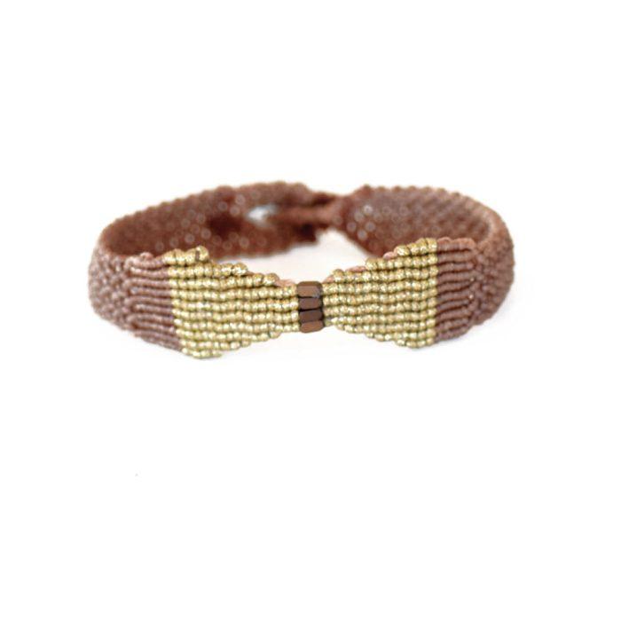 Macrame Bracelet With Bow Tie Theme